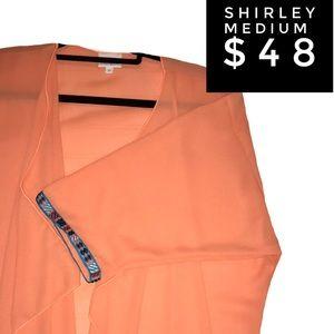 LuLaRoe Medium Chiffon Shirley Kimono
